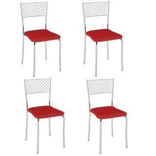 Cadeira PC04 4 Unidades - Pozza
