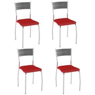 Cadeira PC06 4 Unidades - Pozza