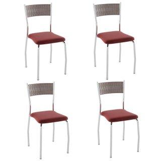 Cadeira PC07 4 Unidades - Pozza