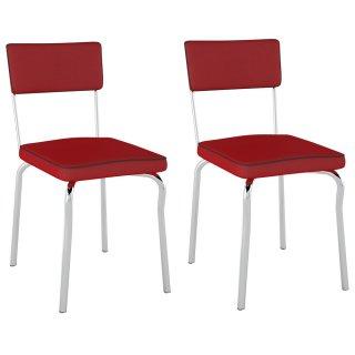 Cadeira Retrô PC13 2 Unidades - Pozza