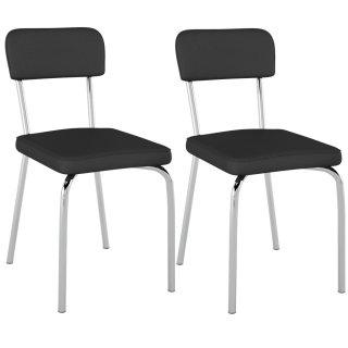 Cadeira Sixtie Cromada 2 Unidades PC20 - Pozza