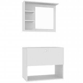 Conjunto Banheiro 1 Gaveta e Espelho BBN 12 - BRV Móveis