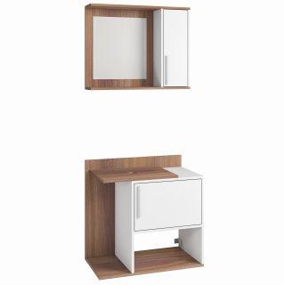 Conjunto Banheiro com 2 Portas e Espelho BBN 13 - BRV Móveis