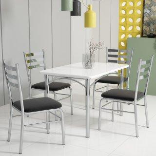 Conjunto de Mesa PM02 e 4 Cadeiras PC09 - Pozza