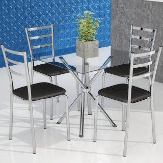 Conjunto de Mesa PM23 e 4 Cadeiras PC14 - Pozza