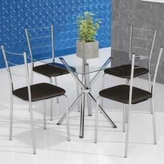 Conjunto de Mesa PM23 e 4 Cadeiras PC16 - Pozza