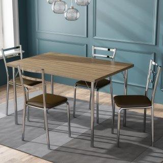 Conjunto de Mesa PM25 e 4 Cadeiras PC14 - Pozza