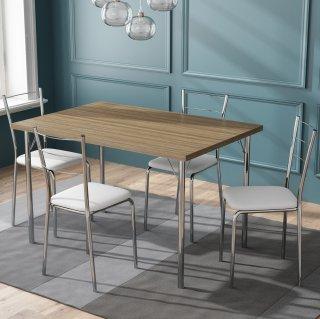 Conjunto de Mesa PM25 e 4 Cadeiras PC16 - Pozza