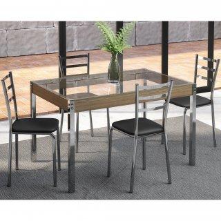 Conjunto de Mesa PM27 e 4 Cadeiras PC14 - Pozza