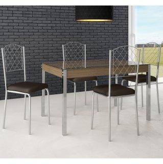 Conjunto de Mesa PM27 e 4 Cadeiras PC18 - Pozza