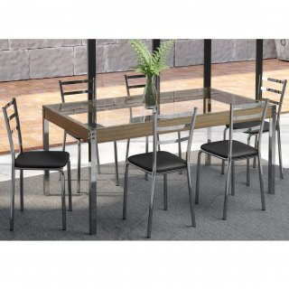 Conjunto de Mesa PM28 e 6 Cadeiras PC14 - Pozza