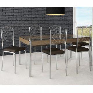 Conjunto de Mesa PM28 e 6 Cadeiras PC18 - Pozza