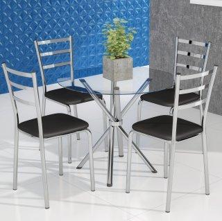 Conjunto Mesa PM22 e 4 Cadeiras PC14 - Pozza