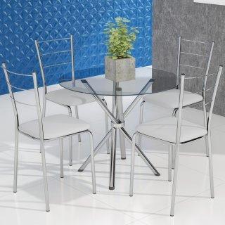 Conjunto Mesa PM22 e 4 Cadeiras PC16 - Pozza