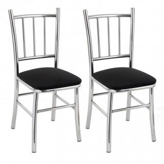 Kit 2 pçs Cadeira de Jantar Cromada CP2006 Plus - Pozza