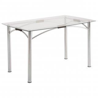 Mesa de Jantar Retangular com Vidro ME7785 - Pozza