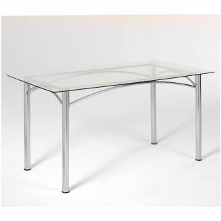 Mesa de Jantar Retangular Vidro Incolor ME7792 - Pozza