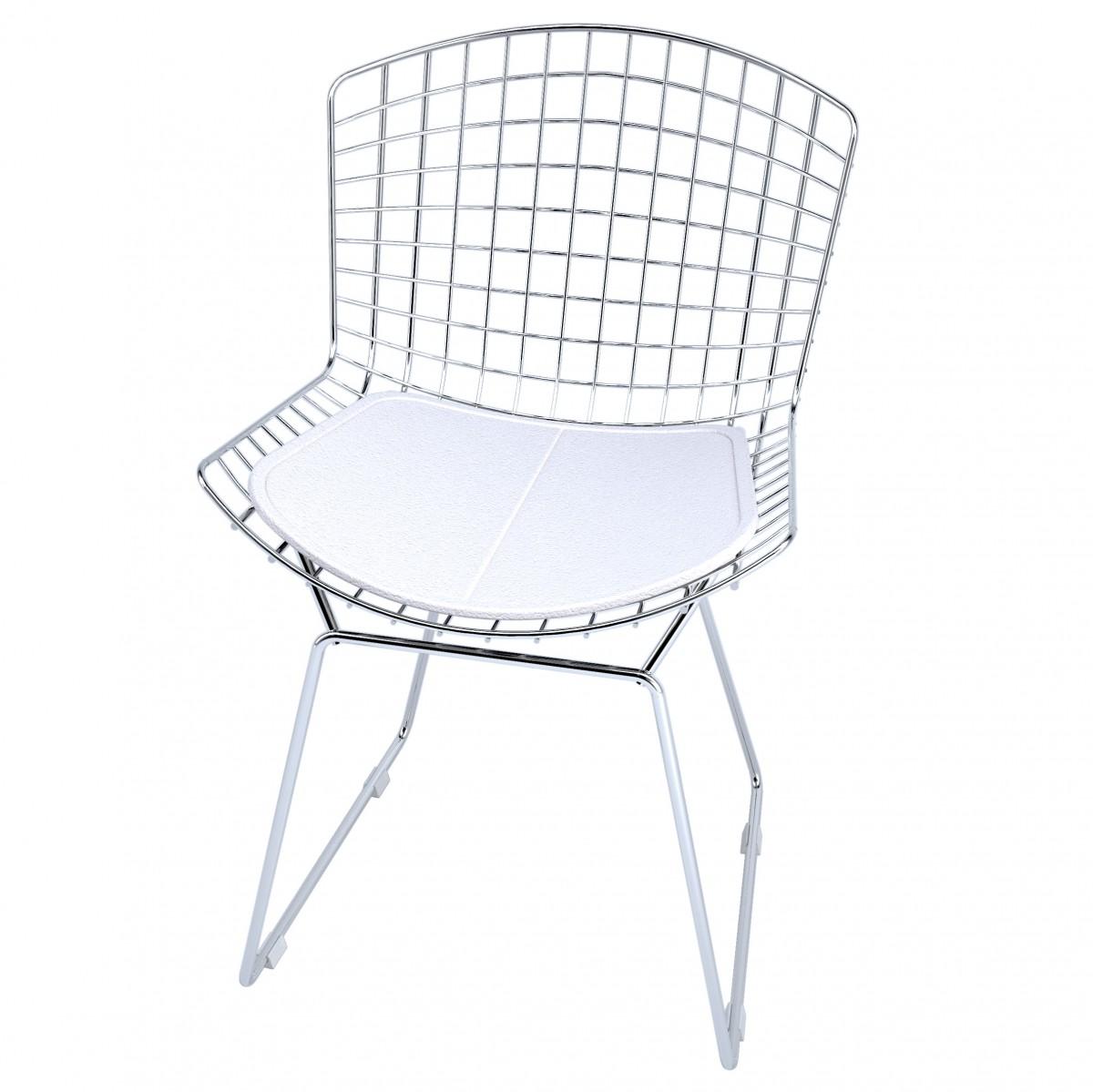 Compre Cadeira Bertoia Cromada Elare Branco Cm0005 Em At 12 Vezes