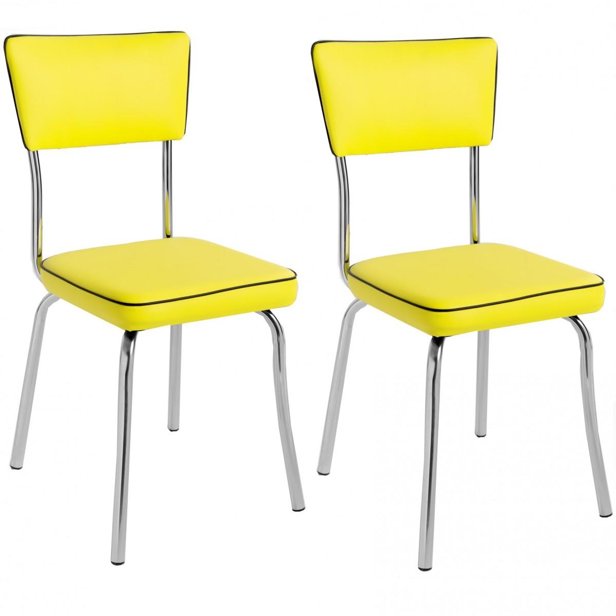 Compre Kit 2 P S Cadeira Retr Cromada Cp2030 Plus Pozza Vinil  -> Imagens De Uma Cadeira