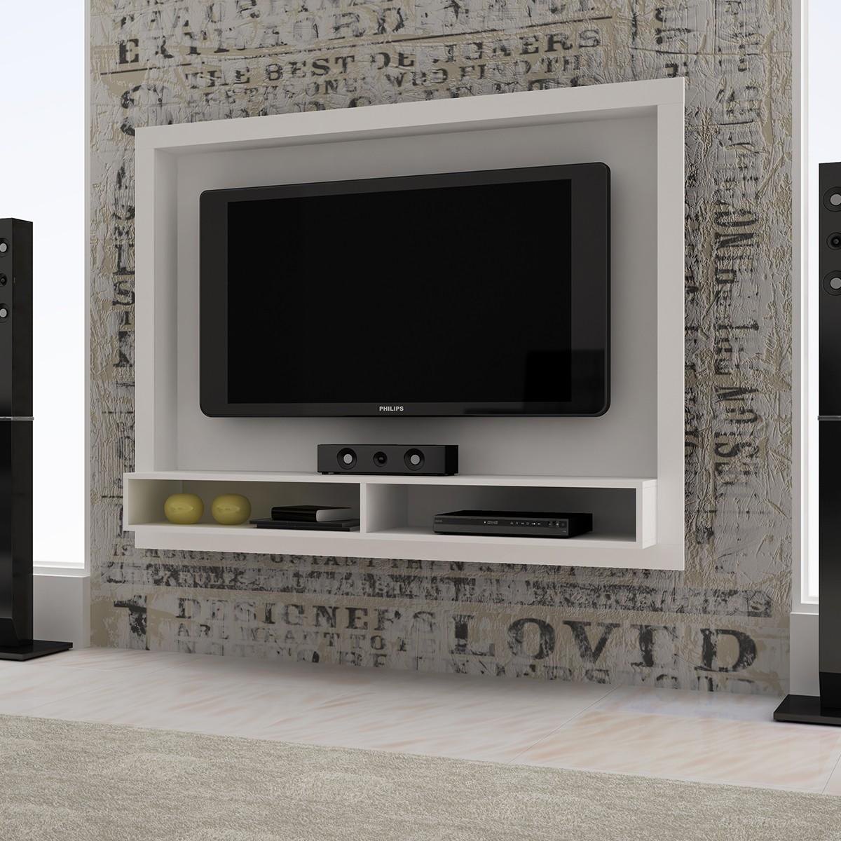 Estante Para Televisor Simple De Largura Recebe Televisores E De  ~ Painel Para Tv Quarto Com Bancada