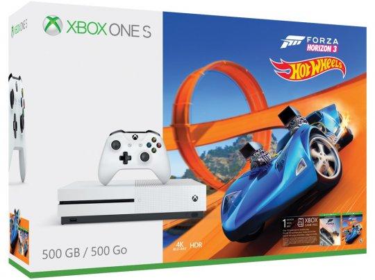 Xbox One S 500GB Forza Horizon 3 + Hotwheels