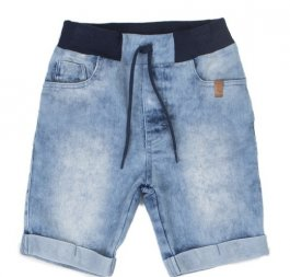 Imagem - Bermuda Jeans Infantil Com Ribana na Cintura cód: 17507019
