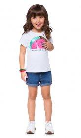 Imagem - Blusa Infantil Kyly Arco-Íris Lantejoula Reversível cód: 16586001