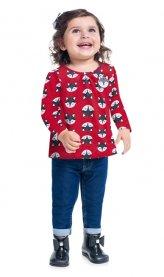 Imagem - Blusa Infantil Vermelha Raposa Kyly cód: 17177005