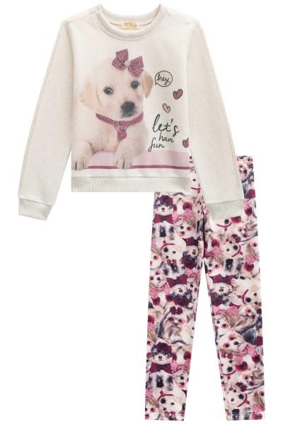 Imagem - Conjunto Kukiê Blusão e Legging de Cachorro cód: 16329007