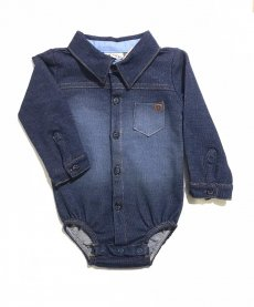 Imagem - Body Lucboo Imita Camisa Jeans cód: 15870020