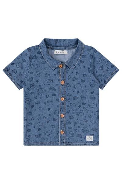Imagem - Camisa Jeans Infantil Estampada Luc.boo cód: 15470020