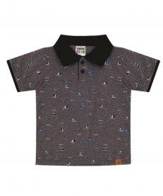 Imagem - Camisa Polo Infantil Sempre Kids Estampa Barcos cód: 16663027