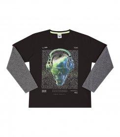 Imagem - Camiseta Infantil Biogas Caveira Neon cód: 17054014
