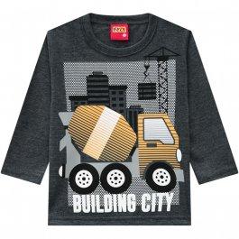 Imagem - Camiseta Infantil Chumbo Kyly Caminhão cód: 16939121