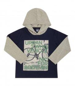 Imagem - Camiseta Infantil com Capuz Biogas Urban cód: 17063006