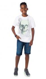Imagem - Camiseta Infantil Lemon Estampa Caveira cód: 16396001