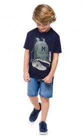 Imagem - Camiseta Infantil Estampa Emborrachada cód: 16719006