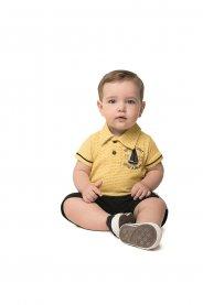Imagem - Conjunto Infantil Angerô Camisa Polo Estampada cód: 16863015