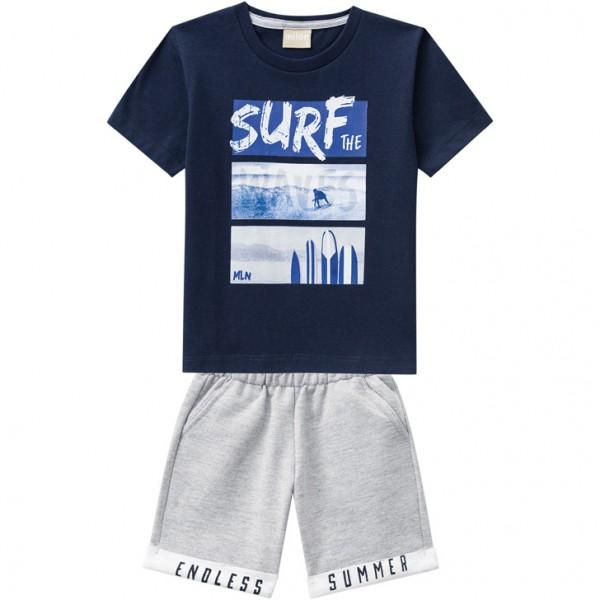 Imagem - Conjunto Milon Bermuda Moletom e Camiseta Surf cód: 15590006