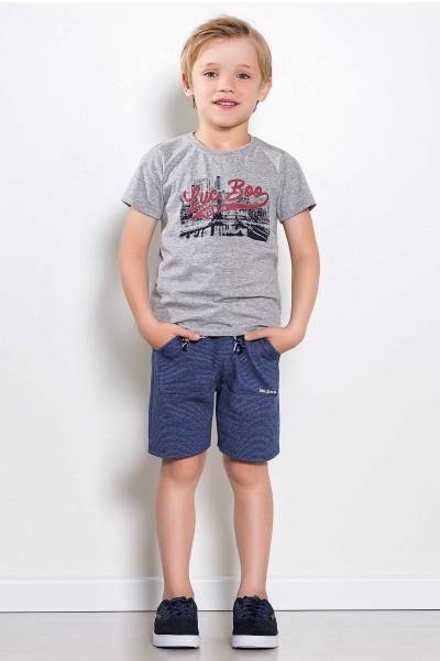 Imagem - Conjunto Infantil Bermuda Saruel e Camiseta Luc.boo cód: 15474033