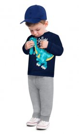 Imagem - Conjunto Infantil Moletom e Calca Dino Vrasalon cód: 17214006