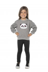 Imagem - Conjunto Infantil Moletom e calça térmica Panda Vrasalon cód: 16992016