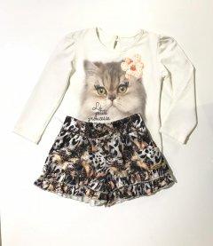 Imagem - Conjunto Pump Blusa Miss Cat e Short Onça cód: 12872007