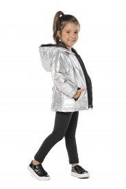 Imagem - Jaqueta Infantil Nylon Prata com Capuz cód: 16946028