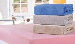 Imagem - Lencol de Plush com Elastico Casal Azul Bene Casa cód: 16108002