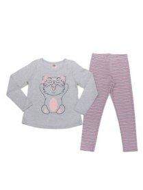 Imagem - Pijama Have Fun Gatinho com Legging Listrada cód: 16199016