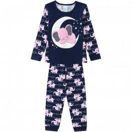 Imagem - Pijama Infantil Brilha no Escuro Elefante Kyly cód: 17184006
