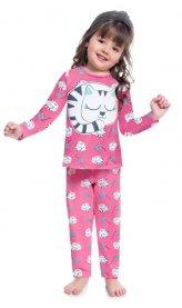 Imagem - Pijama Infantil Brilha no Escuro Gato Kyly cód: 17183003