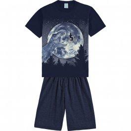 Imagem - Pijama Infantil Dinossauro Brilha no Escuro Kyly cód: 17556006