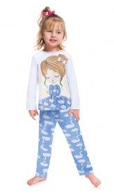 Imagem - Pijama Infantil Kyly Cisne cód: 17191001